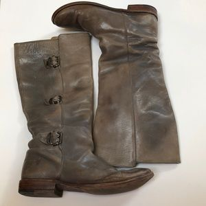 Frye boots, gray distressed patina, size 8